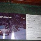1984 1985 VOLKSWAGEN JETTA VINTAGE CAR AD 4-PAGE