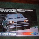 1982 1983 CHEVY CAVALIER CAR AD 2-PAGE