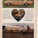 1967 FORD MUSTANG VINTAGE CAR AD