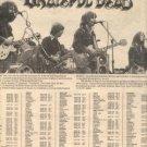 GRATEFUL DEAD LIVE ON KING BISCUIT FLOWER PROMO AD 1976
