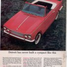 1963 TRIUMPH SPORTS 6 SIX VINTAGE CAR AD