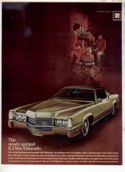 1970 CADILLAC ELDORADO DE VILLE CAR AD