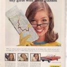 * 1961 HERTZ RENT A CAR IMPALA BEL AIR PHOTO PRINT AD