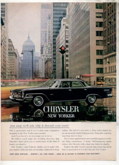 * 1962 CHRYSLER NEW YORKER PHOTO PRINT AD