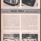 * 1956 1957 FACEL VEGA ROAD TEST CAR AD 3-PAGE
