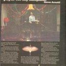 1980 STEVE ARNOLD ZILDJIAN DRUMS POSTER TYPE AD