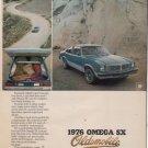 1976 OLDSMOBILE OMEGA SX VINTAGE CAR AD
