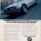1975 1976 BMW 530i VINTAGE CAR AD