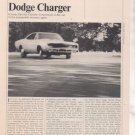 1967 1968 DODGE CHARGER VINTAGE ROAD TEST AD 5-PAGE