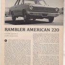 1967 1968 RAMBLER AMERICAN 220 VINTAGE ROAD TEST AD