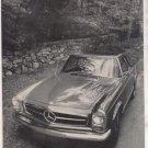1967 1968 MERCEDES BENZ 250 SL ROAD TEST AD 6-PG