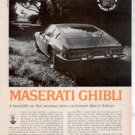 1971 1972 MASERATI GHIBLI ROAD TEST AD 5-PAGE