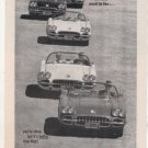 1960 CHEVY CORVETTE VINTAGE CAR AD
