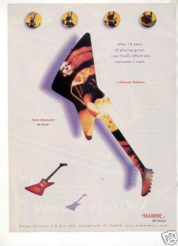 HAMER GUITAR AD TOM DUMONT NO DOUBT 1998