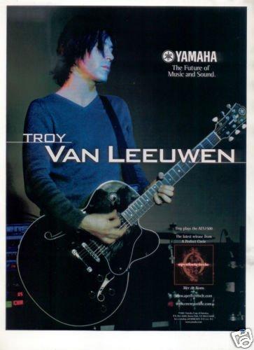Yamaha aes1500 guitar ad troy van leeuwen 1998 for Yamaha of troy