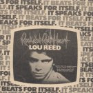 * 1976 LOU REED ROCK & ROLL HEART POSTER TYPE AD