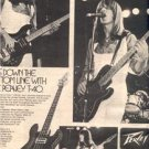 1979 PEAVEY T-40 JOURNEY ROSS VALORY POSTER TYPE AD