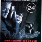 KIEFER SUTHERLAND 24 SEASON 2 PHOTO PROMO AD