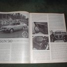1977 DATSUN 510 ROAD TEST 4-PAGE