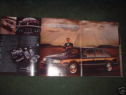 1985 1986 CHRYSLER LEBARON GTS CAR AD 4-PAGE