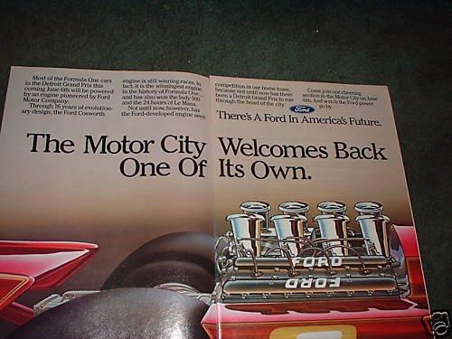 1982 FORD MOTOR COMPANY AD DETROIT GRAND PRIX
