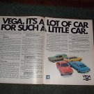 1971 CHEVY VEGA VINTAGE CAR AD