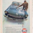 1957 FORD THUNDERBIRD GULF MOTOR OIL VINTAGE CAR AD