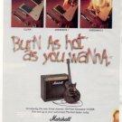 MARSHALL VALVESTATE VS100R AMPLIFIER AD 1996