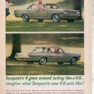 * 1962 1963 PONTIAC TEMPEST V-8 VINTAGE CAR AD