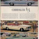 * 1963 CHRYSLER NEW YORKER  PHOTO PRINT AD