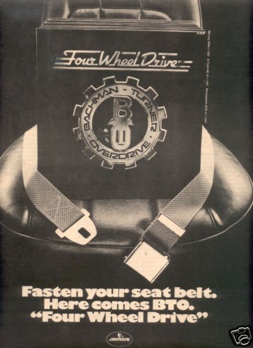BTO BACHMAN TURNER OVERDRIVE POSTER TYPE AD 1975