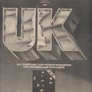 * 1978 UK POSTER TYPE PROMO AD