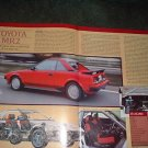 1984 TOYOTA MR2 ORIGINAL ROAD TEST 5-PAGE