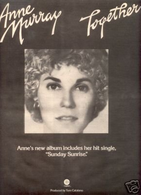 ANNE MURRAY TOGETHER PROMO AD 1975