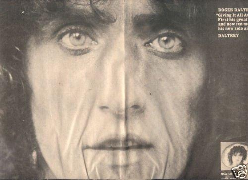 ROGER DALTREY SOLO LP POSTER TYPE AD 1973