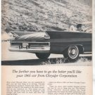 * 1961 CHRYSLER NEWPORT VALIANT DART PRINT AD 2-PAGE