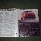 1986 SAAB 900S 900 TURBO VINTAGE CAR AD 2-PAGE