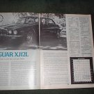1977 JAGUAR XJ12L ROAD TEST CAR AD 2-PAGE