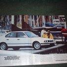 1989 BMW 5 SERIES 5-SERIES VINTAGE CAR AD 2-PAGE