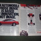 1989 HONDA ACURA  LEGEND COUPE VINTAGE CAR AD 2-PAGE