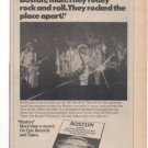 BOSTON MORE THAN A FEELING 1ST LP PROMO AD 1977