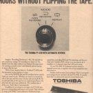 1973 TOSHIBA PT-490 CASSETTE DECK RECORDER AD
