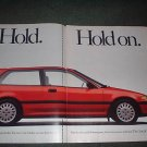 1989 HONDA CIVIC Si VINTAGE CAR AD 2-PAGE