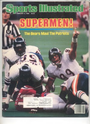 * 1986 SPORTS ILLUSTRATED BEARS MAUL PATRIOTS