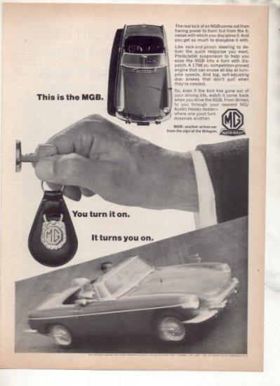 1966 1967 MG AUSTIN HEALEY VINTAGE CAR AD