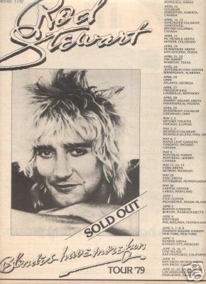 ROD STEWART BLONDES HAVE MORE FUN TOUR FLYER PROMO AD