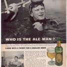 * 1963 BALLANTINE ALE EUGENE BURDICK PHOTO AD