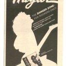 1980 SAMMY HAGAR THE DANGER ZONE POSTER TYPE AD
