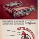 1966 1967 DODGE CORONET VINTAGE CAR AD