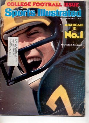 * 1976 SPORTS ILLUSTRATE�D MICHIGAN #1 RICK LEACH